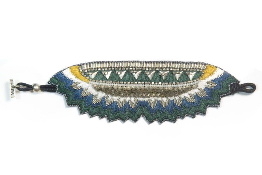 Bracelet Maheswari - Green/Honey | Photo 3