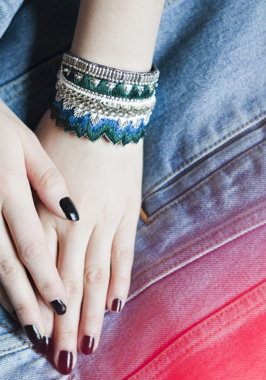 Bracelet Maheswari - Green/Honey | Photo 1