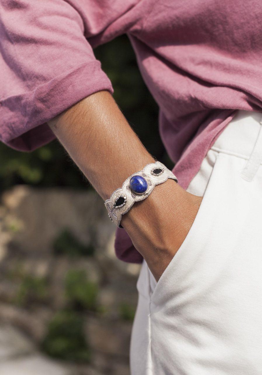 Bracelet chic Opaline | Blue/Mastic | Photo 1
