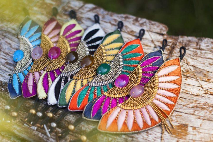 Bracelet ethnique Brahma | Marine/Turquoise | Photo 5