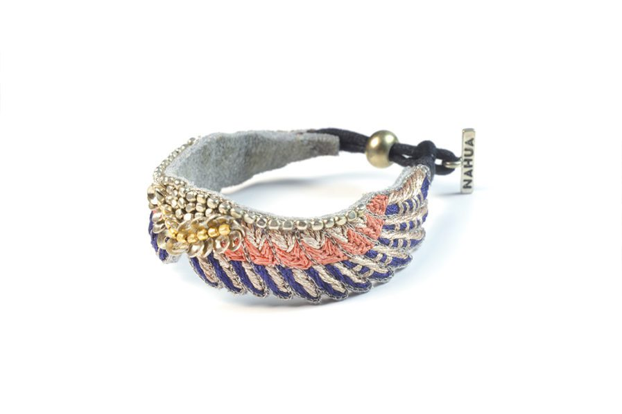 bracelet boho Shaila – Blue/Apricot | Photo 2