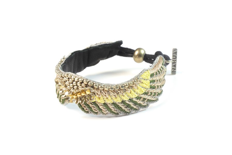 bracelet boho Shaila – Green/Yellow | Photo 2