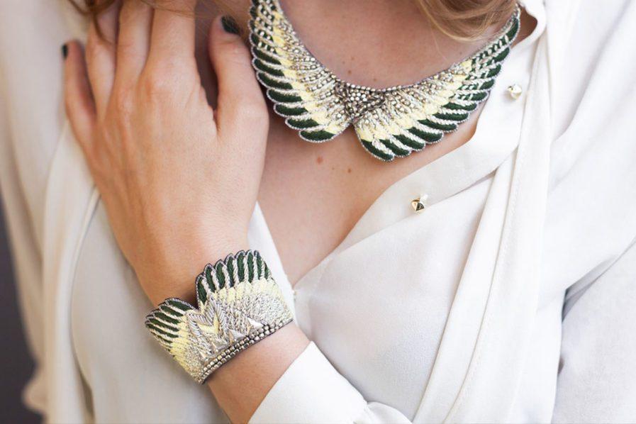 bracelet boho Shakti – Green/Yellow | Photo 1