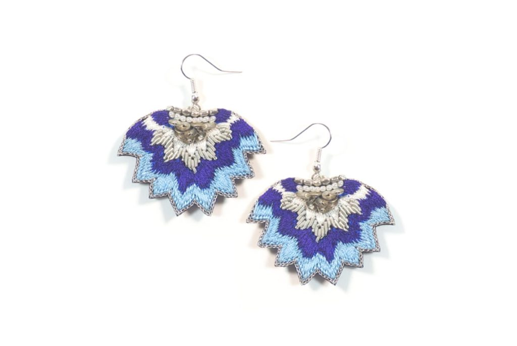Madi embroidered earrings - Klein