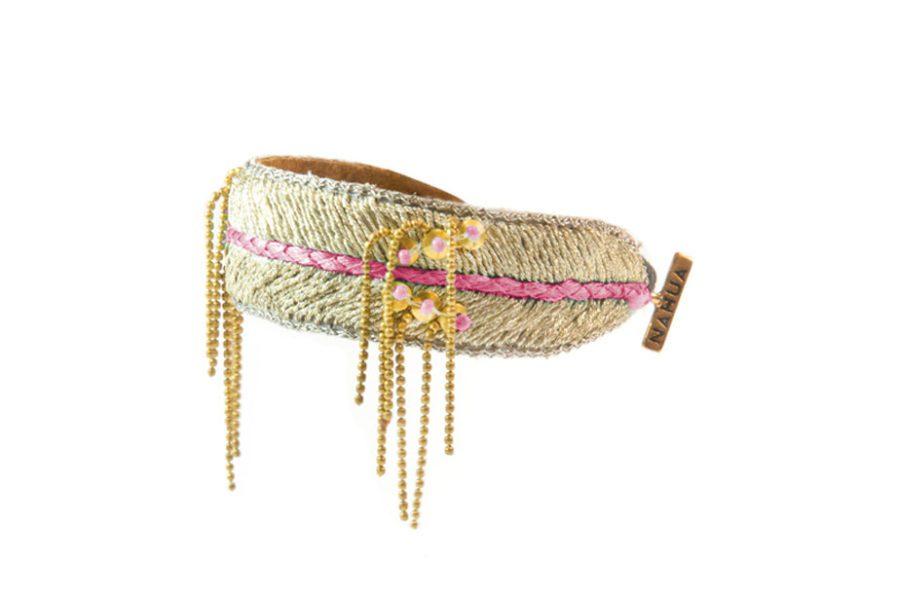 Bracelet brodé Dita - Pink   Photo 2