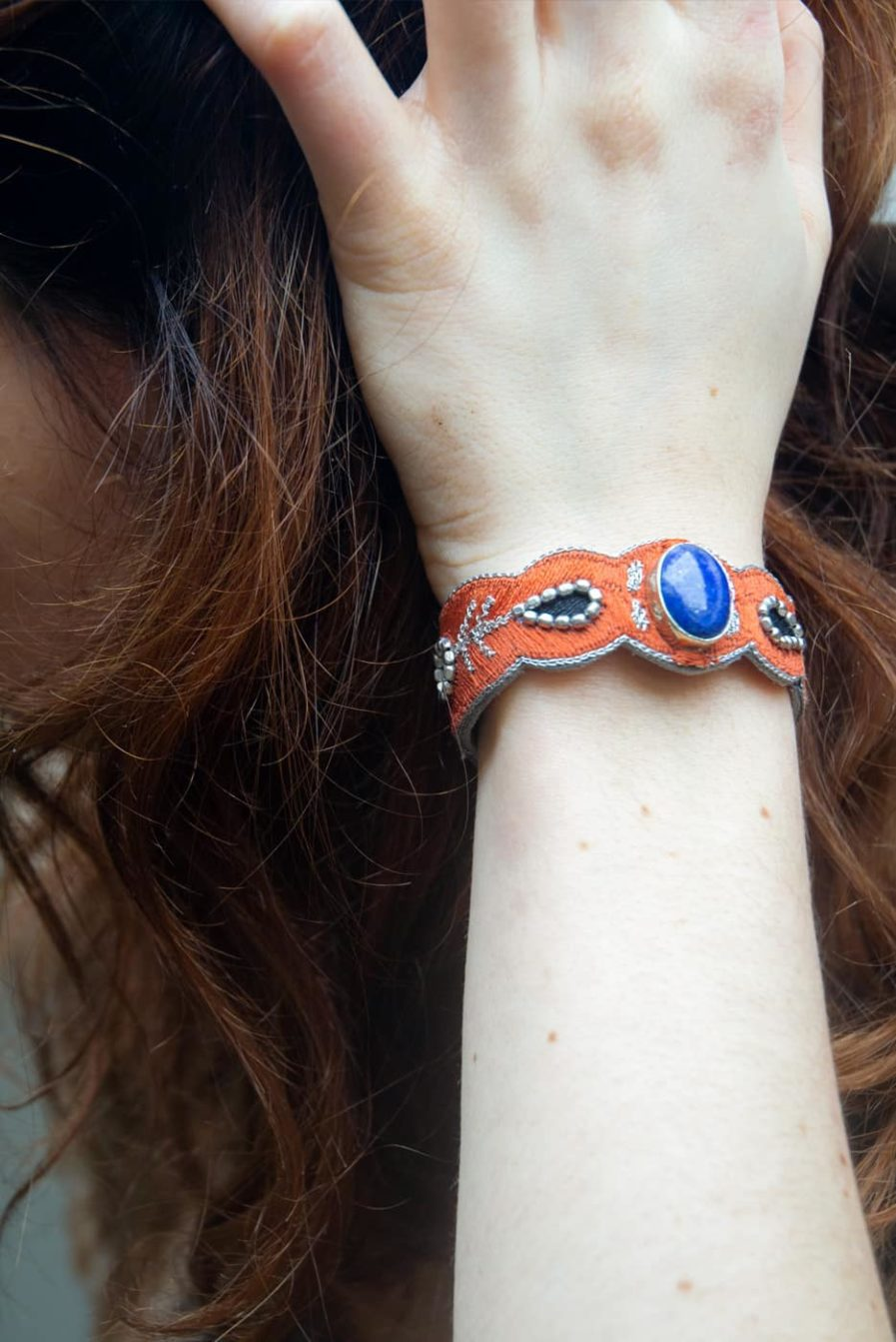 Bracelet chic Opaline | Blue/Copper | Photo 1