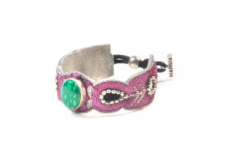 Bracelet chic Opaline | Green/Purple | Photo 2