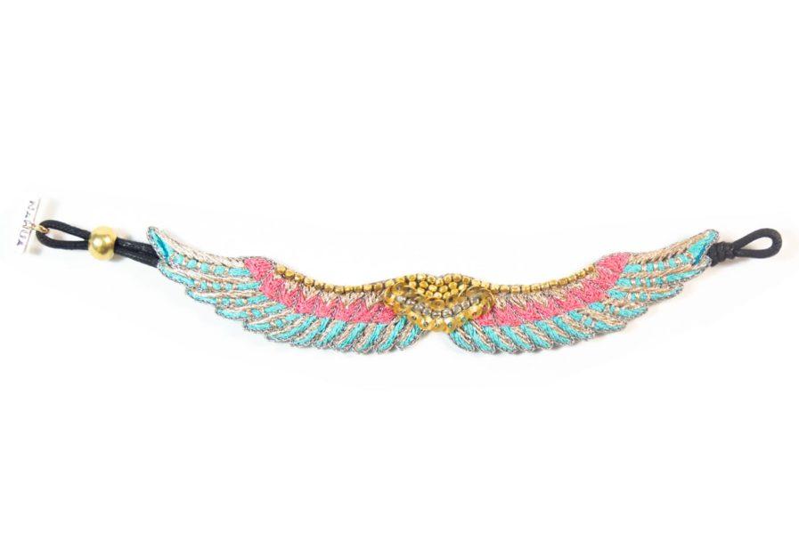 Bracelet bohème Shaila   Turquoise/Pink   Photo 3