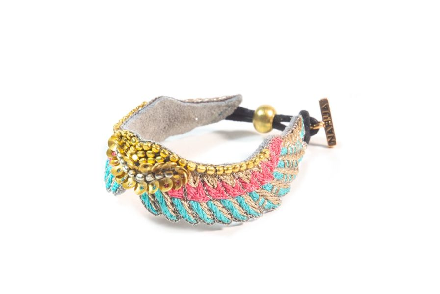 Bracelet bohème Shaila   Turquoise/Pink   Photo 2