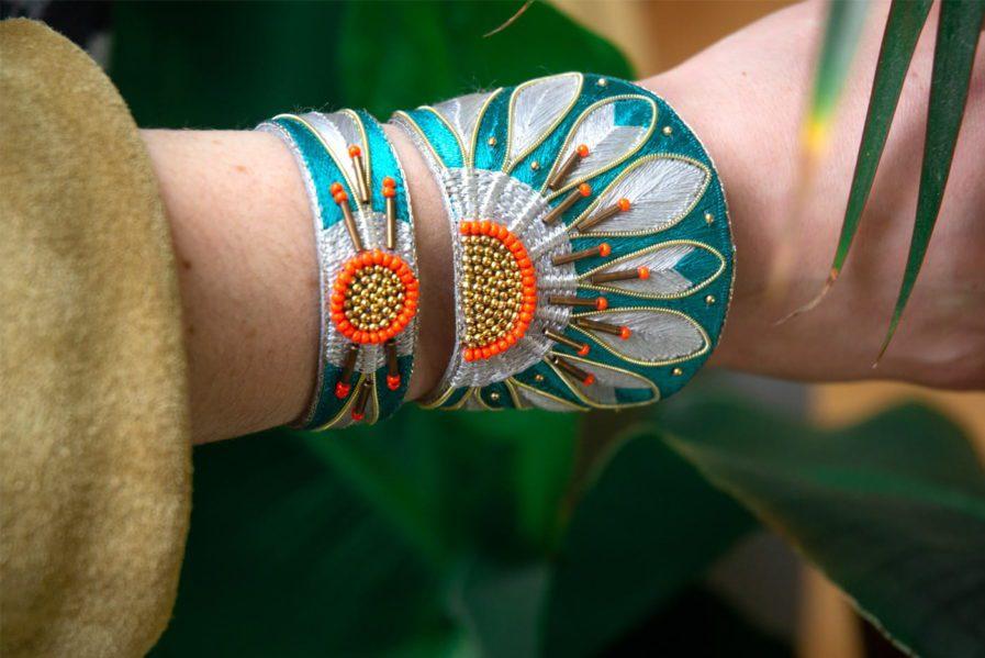 Bracelet Apache - Green/Argile   Photo 1