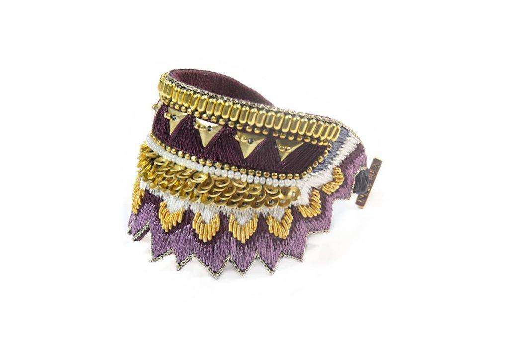 Bracelet ethnique Maheswari | Purple