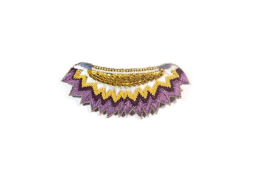 Macha ethnic hair clip | Purple