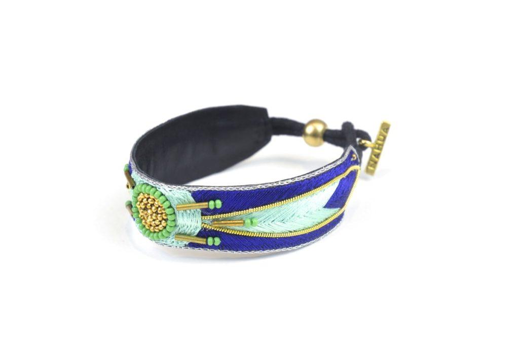 Aprile ethnic bracelet | Klein/Mint