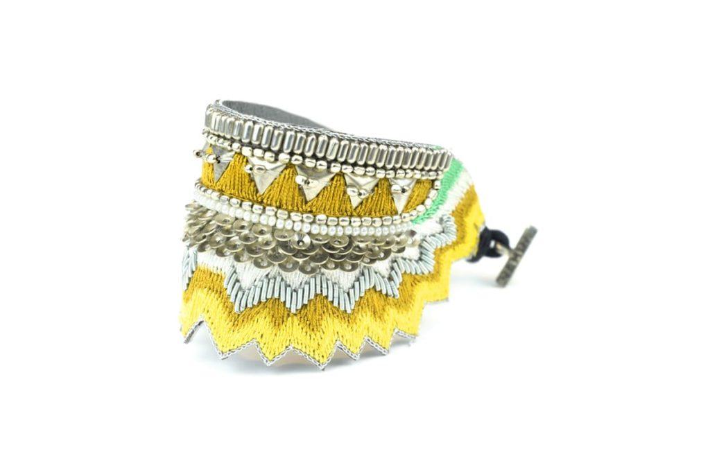 Bracelet ethnique Maheswari | Mustard