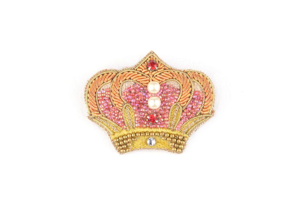 Broche couronne Romance | Rouge