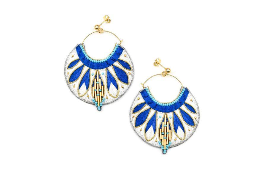 Boucles d'oreilles ethniques Apie | Blue greek
