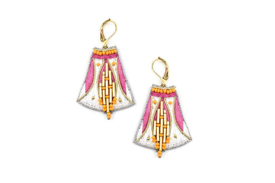 Boucles d'oreilles ethniques Apo | Lilac