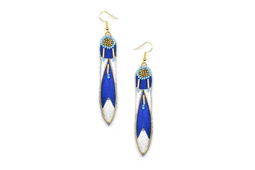 Boucles d'oreilles ethniques Apsa | Blue greek