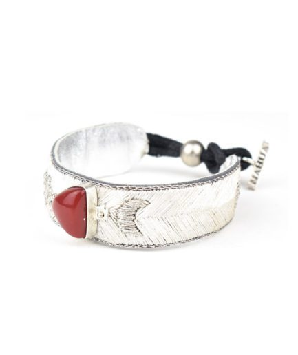 Bracelet bohème Kanis | Light/Cornaline