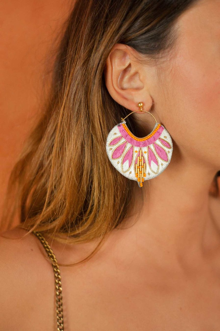 Boucles d'oreilles ethniques Apie | Lilac