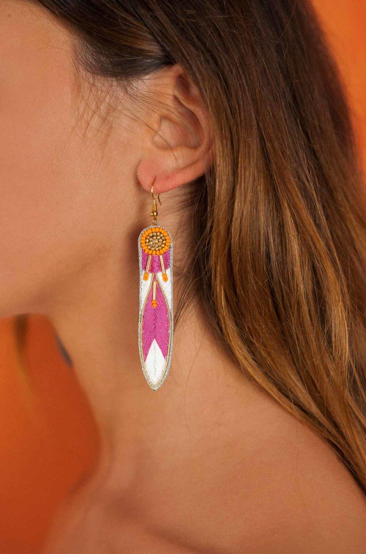 Boucles d'oreilles ethniques Apsa | Lilac