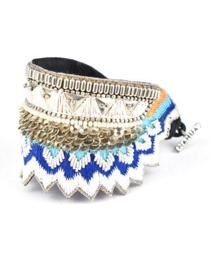 Bracelet ethnique Maheswari | Blue greek