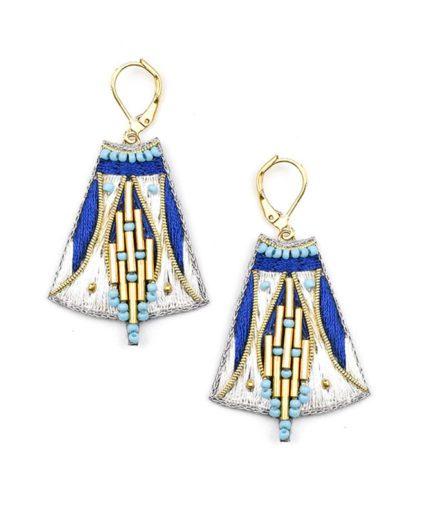 Boucles d'oreilles ethniques Apo | Blue greek