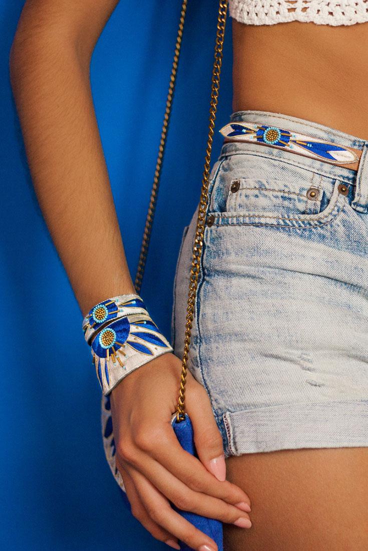 Bracelet ethnique Aprile | Blue Greek