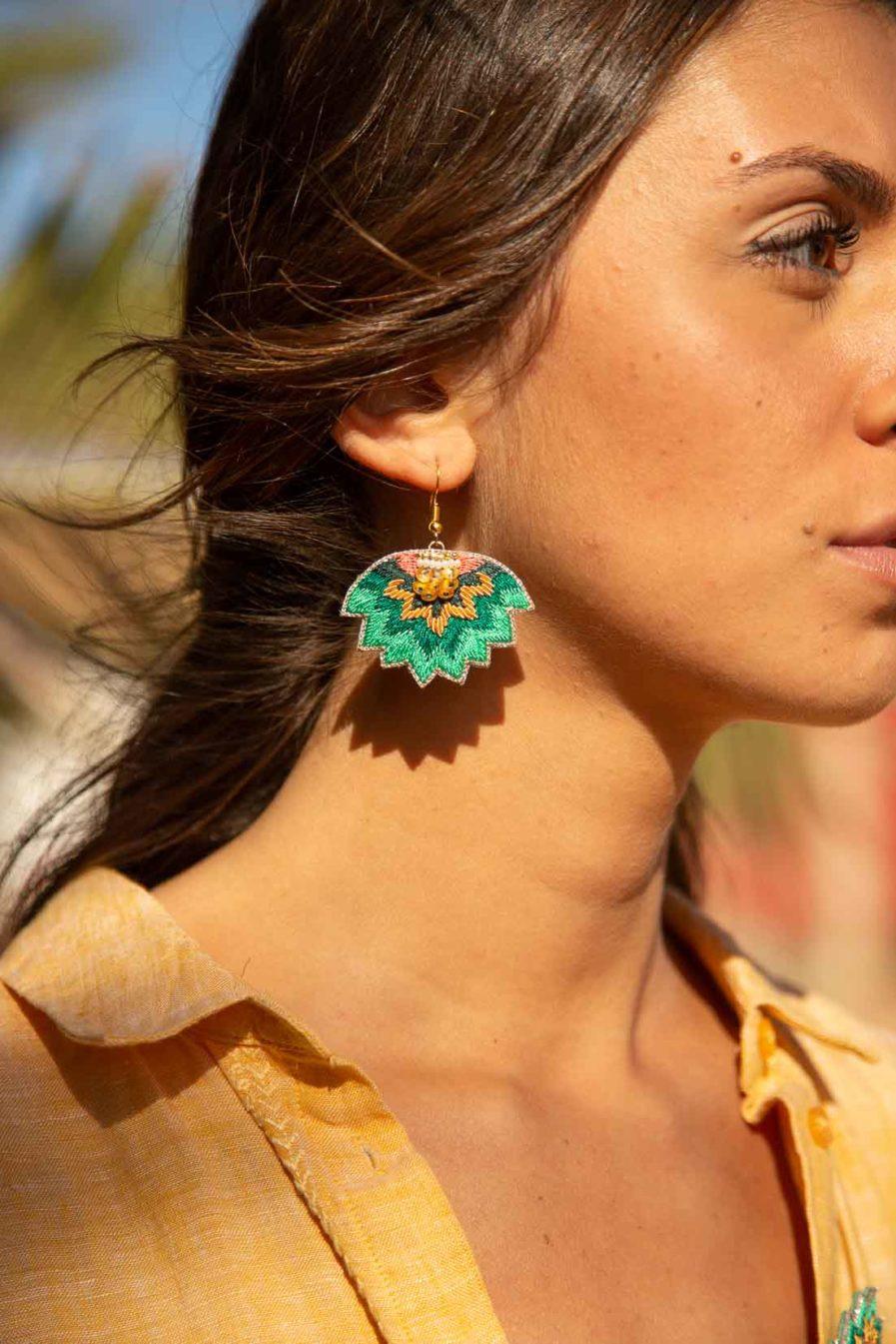 Boucles d'oreilles ethniques Madi | Prairie