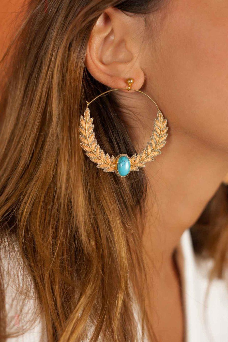 Boucles d'oreilles créoles Lorna | Tangerine
