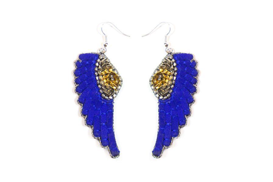 Boucles d'oreilles rock Anita | Blue Greek