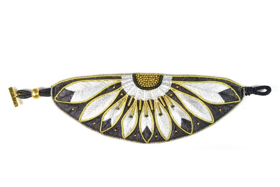 Bracelet ethnique Apache | Anthracite