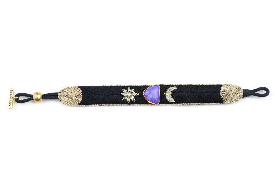 Bracelet bohème Kanis | Charoite violette