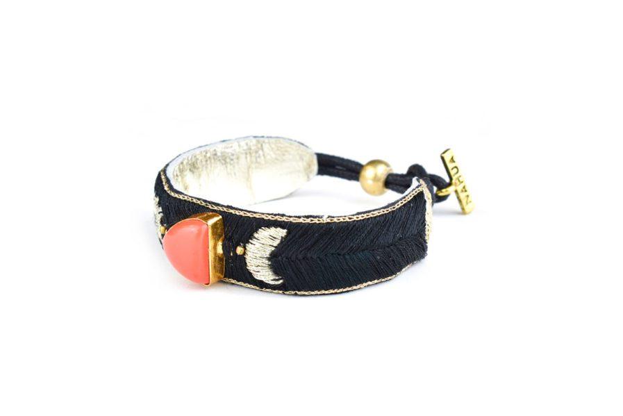 Bracelet bohème Kanis | Cornaline orange