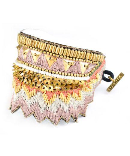 Bracelet ethnique Maheswari |Latte