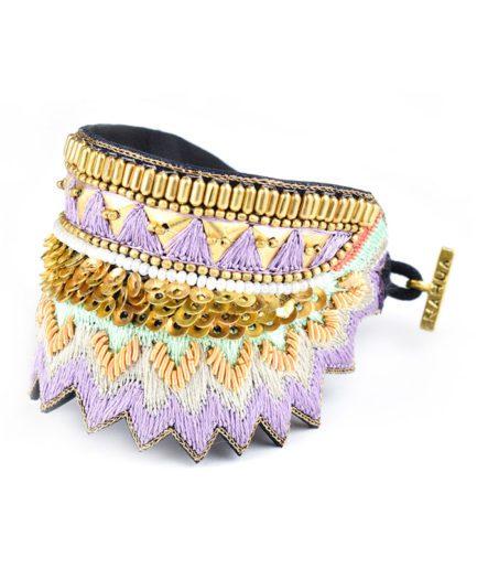 Bracelet ethnique Maheswari | Mauve