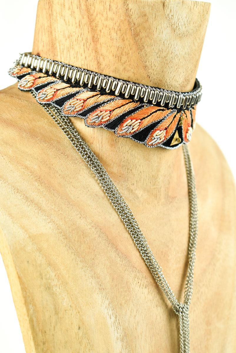 Chocker ethnique Nia | Orange