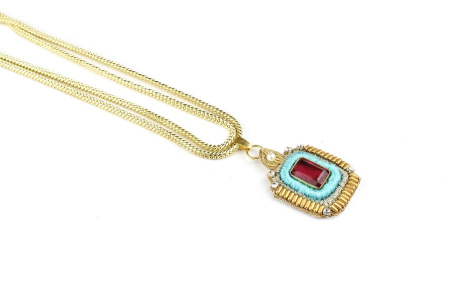 Collier chic Duchess   Turquoise
