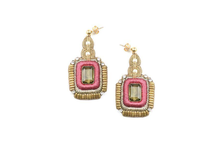 Boucles d'oreilles chic Duc | Pink
