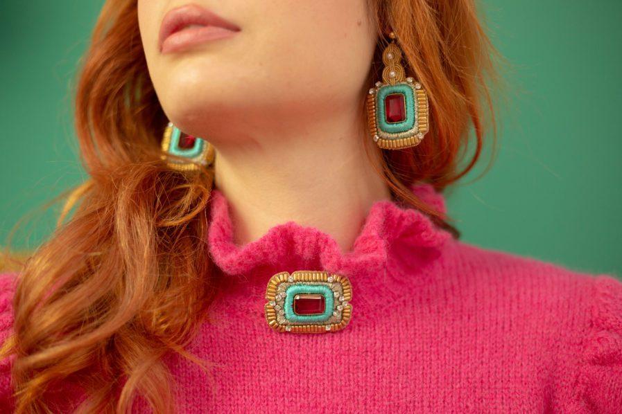 Boucles d'oreilles chic Duc | Turquoise