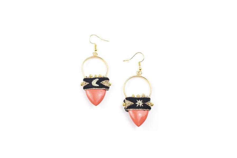 Boucles d'oreilles bohèmes Kalo | Orange
