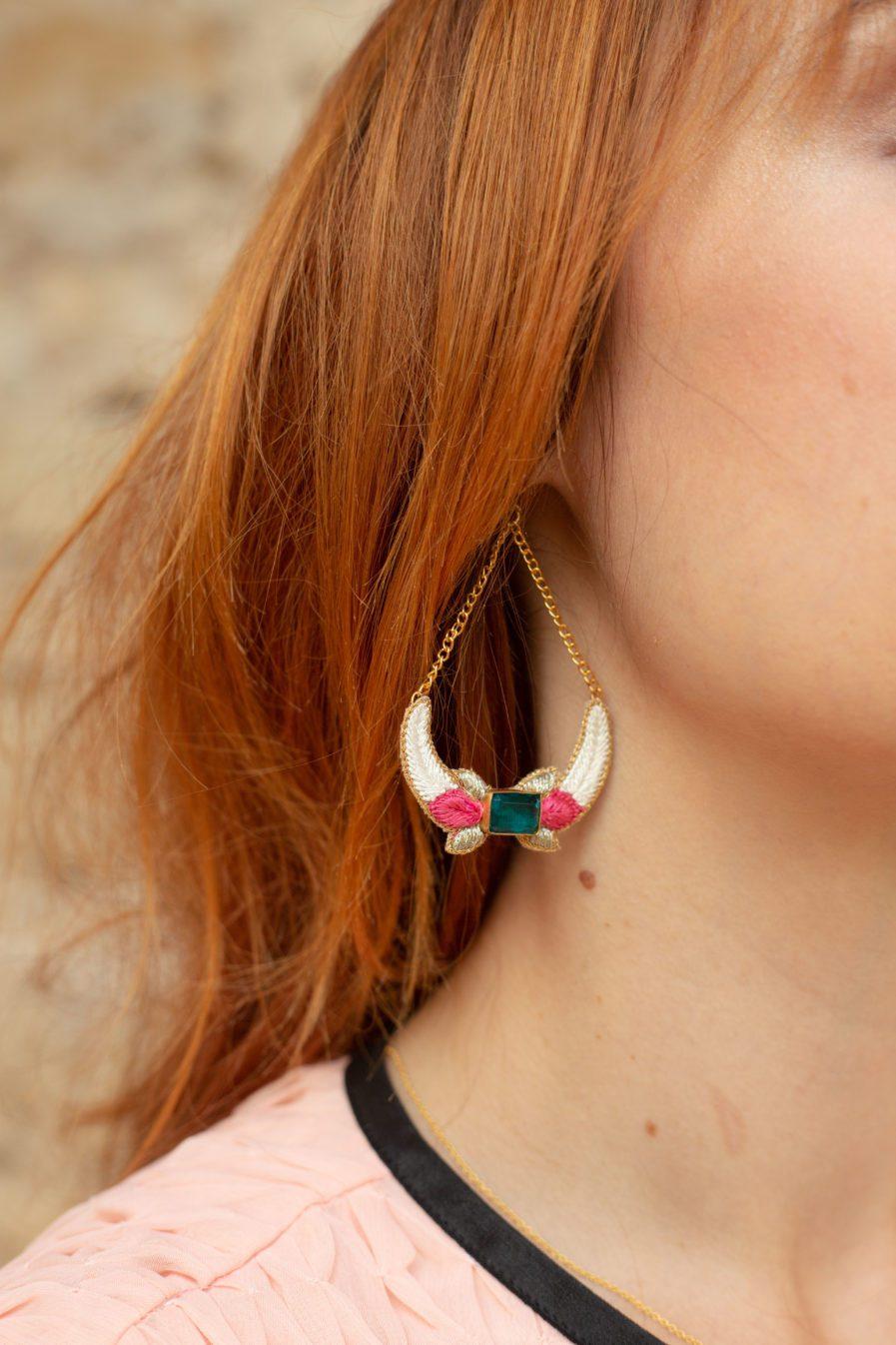 Boucles d'oreilles chic Presly | Peach
