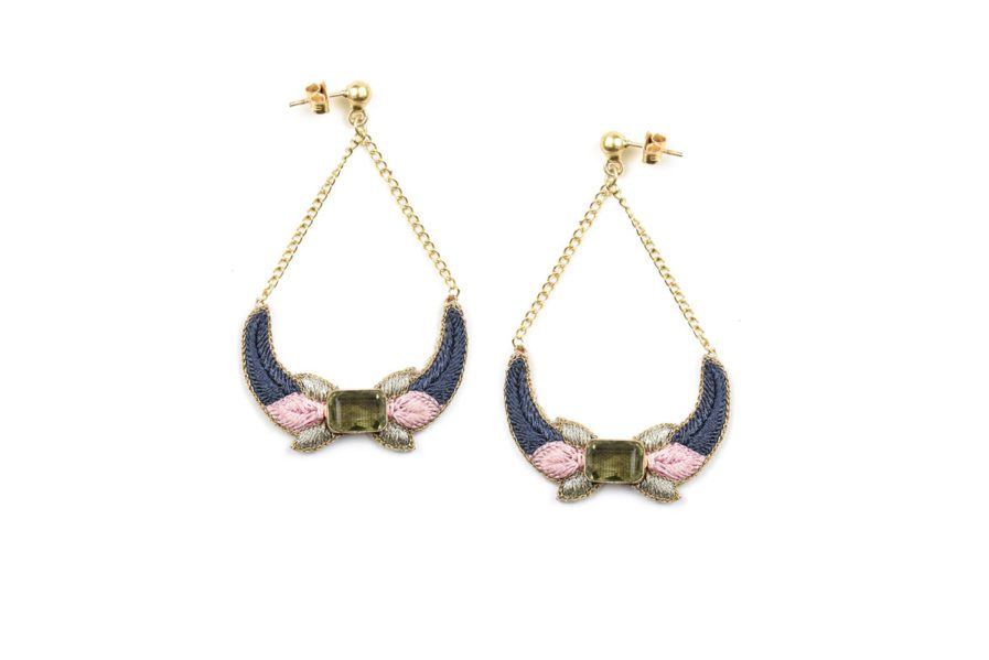 Boucles d'oreilles chic Presly | Pink